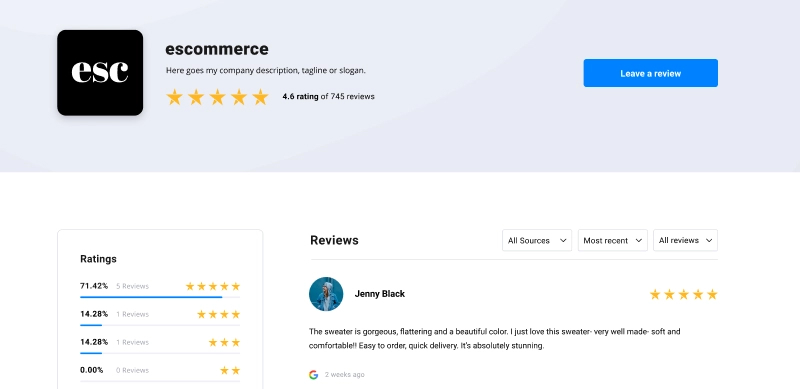 eviews-page-elements